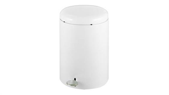 Waste Baskets Safco Office Furniture Round Step-On Receptacle, 4-Gallon