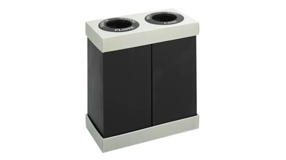 Waste Baskets Safco Office Furniture At-Your-Disposal® Recycling Center Double