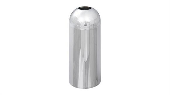 Waste Baskets Safco Office Furniture Open Top Dome Receptacle, Chrome