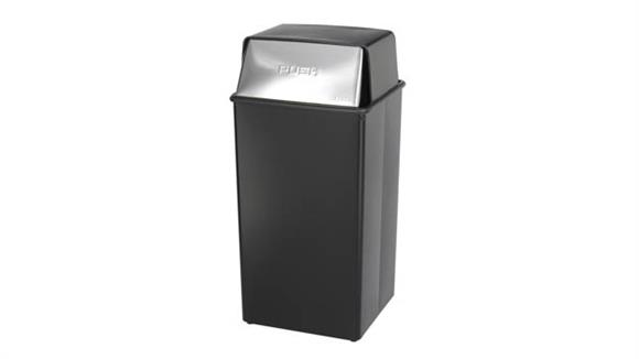 Waste Baskets Safco Office Furniture Push Top Receptacle