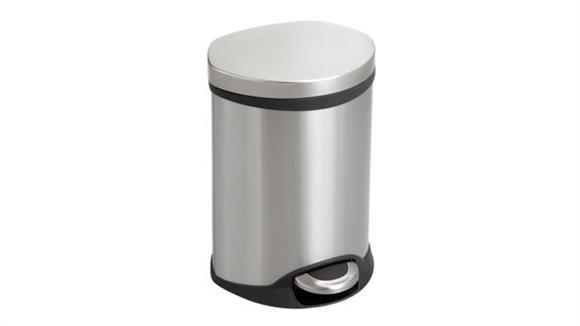 Waste Baskets Safco Office Furniture Ellipse Step-On - 1.5 Gallon Receptacle