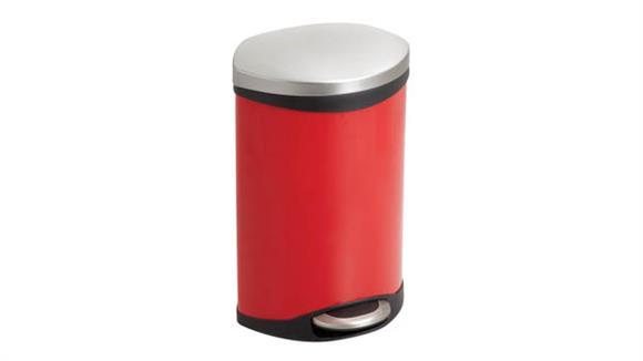 Waste Baskets Safco Office Furniture Ellipse Step-On - 3 Gallon Receptacle