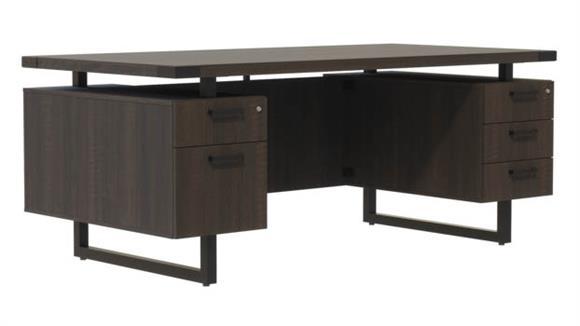 "Computer Desks Safco Office Furniture 72"" W x 36"" D Desk with BBB/BF Pedestals"