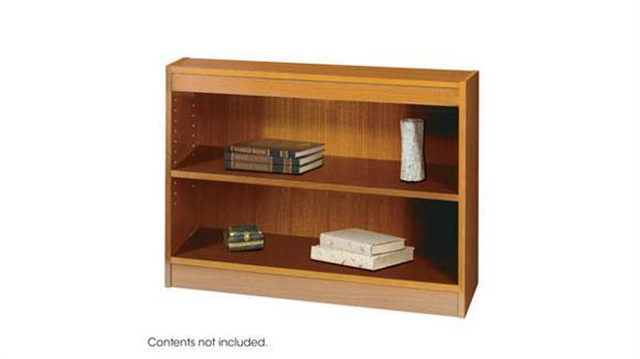Bookcases Safco Office Furniture Square-Edge Veneer Bookcase - 2 Shelf