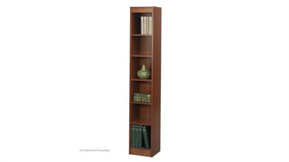 "Bookcases Safco Office Furniture 6-Shelf Veneer Baby Bookcase, 12""W"