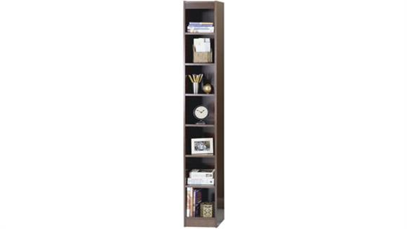 "Bookcases Safco Office Furniture 84""H x 12""W Veneer Bookcase"