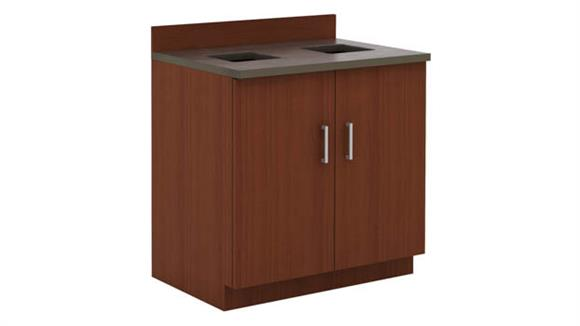 Storage Cabinets Safco Office Furniture Hospitality Base Cabinet, Waste Receptacle