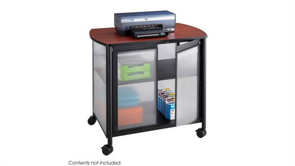 Storage Cabinets Safco Office Furniture Deluxe Mobile Machine Stand with Doors