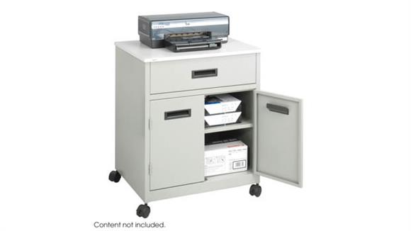 Storage Cabinets Safco Office Furniture Enclosed Steel Machine Stand with Drawer