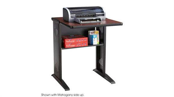 Computer Tables Safco Office Furniture Reversible Top Fax/Printer Stand