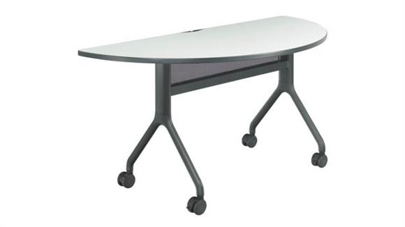 "Training Tables Safco Office Furniture 60"" x 30"" Half Round Table"