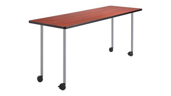 "Training Tables Safco Office Furniture 60"" x 24"" Mobile Training Table, Rectangle"