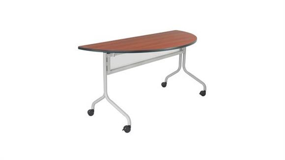 "Training Tables Safco Office Furniture 48"" x 24"" Half Round Mobile Training Table"