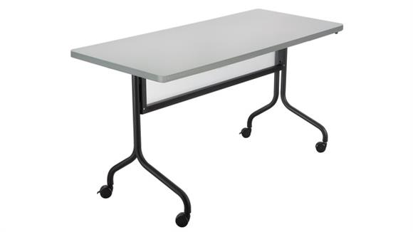 """Training Tables Safco Office Furniture 60"""" x 24"""" Mobile Training Table, Rectangle"""