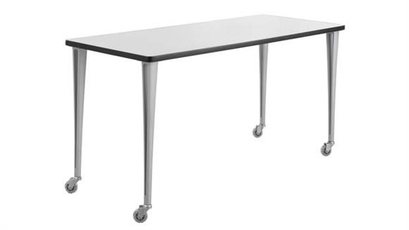 """Training Tables Safco Office Furniture 60"""" x 24"""" Mobile Table with Casters"""