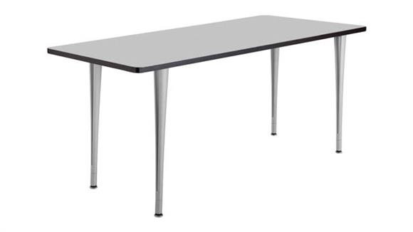 """Training Tables Safco Office Furniture 72"""" x 24"""" Mobile Table with Glides"""