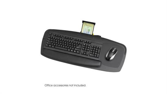 "Desk Accessories Safco Office Furniture Premier Series 27"" Keyboard Platform with Control Zone"