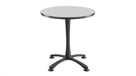 "Cafeteria Tables Safco Office Furniture 30"" Round, X Base, Sitting Height Table"