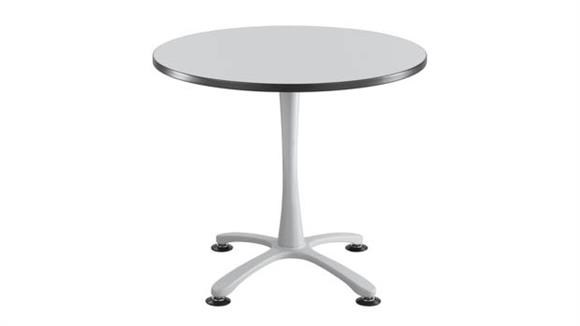 "Cafeteria Tables Safco Office Furniture 36"" Round, X Base, Sitting Height Table"