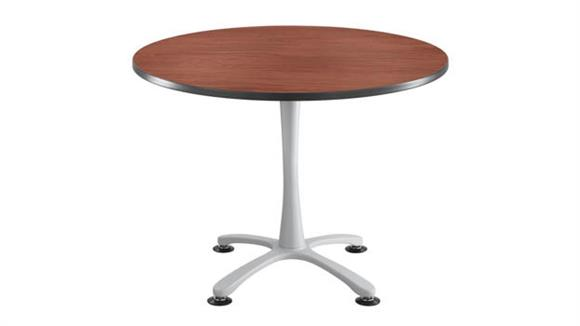 """Cafeteria Tables Safco Office Furniture 42"""" Round, X Base, Sitting Height Table"""