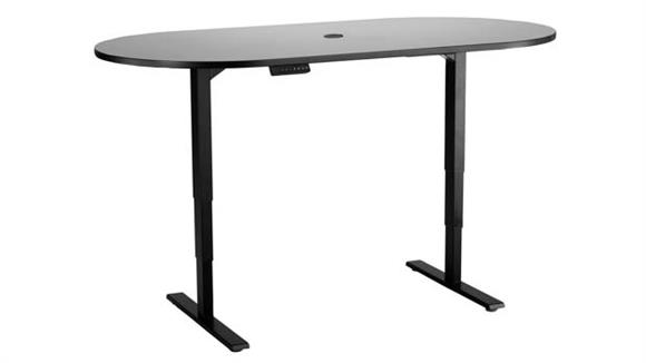 "Adjustable Height Tables Safco Office Furniture Electric Height-Adjustable Teaming Table, Racetrack - 72""x36"""