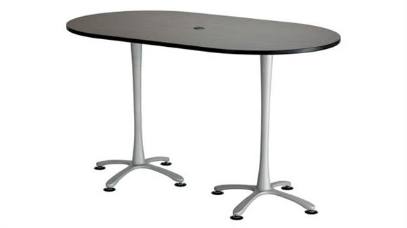 """Pub & Bistro Tables Safco Office Furniture 72""""x42"""", Racetrack Table, Bistro-Height"""