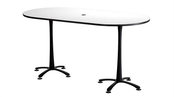 """Pub & Bistro Tables Safco Office Furniture 84""""x42"""", Racetrack Table,  Bistro-Height"""