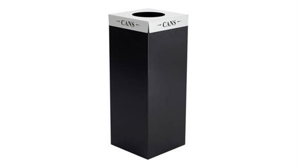 """Waste Baskets Safco Office Furniture Square-Fecta™ """"Cans"""" Lid"""