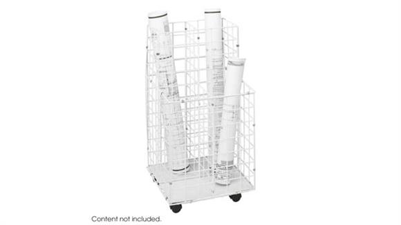 Media Storage Safco Office Furniture Wire Roll File, 4 Compartment
