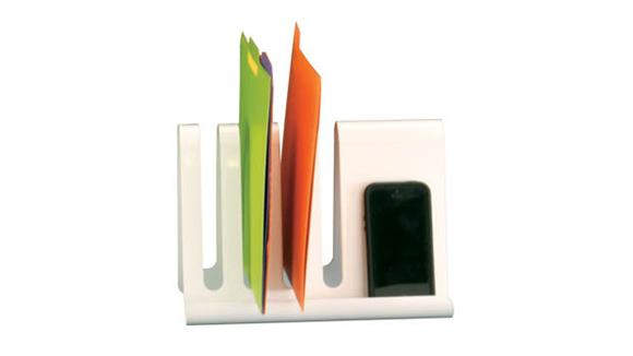 Desk Organizers Safco Office Furniture Wave Desk Accessory - Combination Desk File & Document Holder