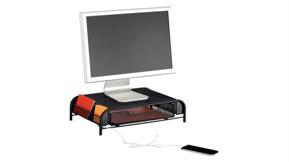Monitor Stands / Arms Safco Office Furniture Powered Onyx™ Monitor Stand