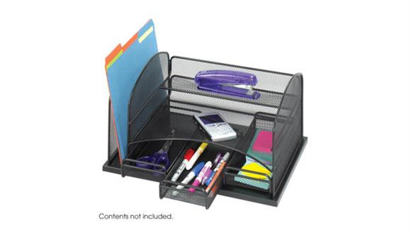 Desk Organizers Safco Office Furniture Onyx™ Organizer With 3 Drawers