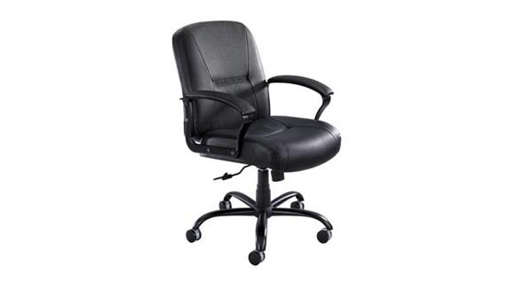 Big & Tall Safco Office Furniture Mid Back Big and Tall Leather Chair