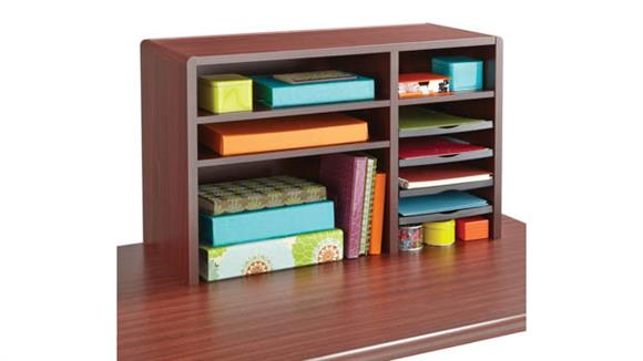 "Desk Organizers Safco Office Furniture 29""W Compact Desk Top Organizer"