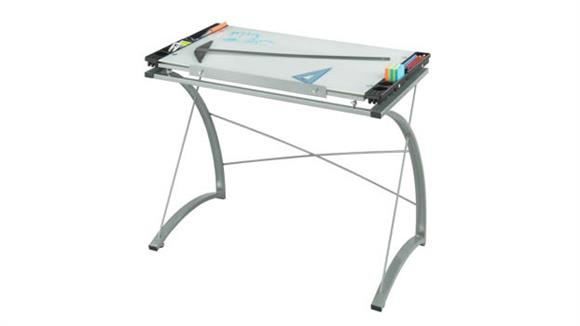 Drafting Tables Safco Office Furniture Xpressions™ Glass Top Drafting Table