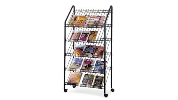 Magazine & Literature Storage Safco Office Furniture Mobile Literature Rack