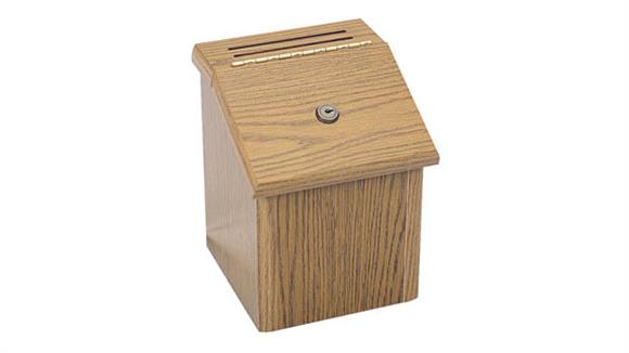 Office Organizers Safco Office Furniture Wood Locking Suggestion Box
