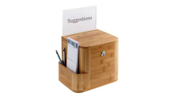 Office Accessories Safco Office Furniture Bamboo Suggestion Box