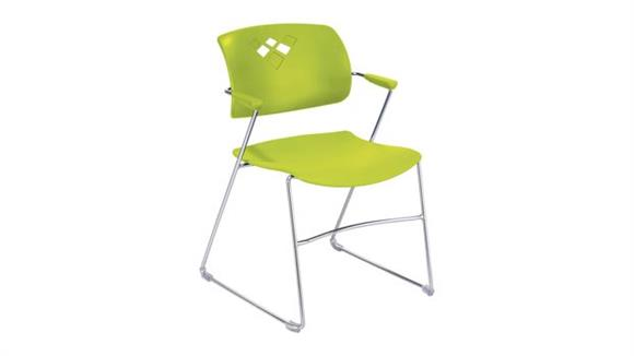 Stacking Chairs Safco Office Furniture Veer Stack Chair with Arms
