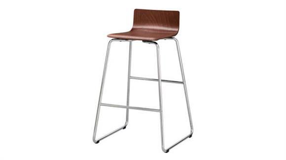 Bar Stools Safco Office Furniture Bosk® Wood Stool, Bistro Height