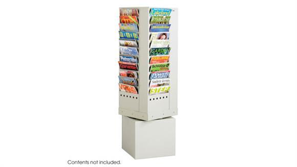 Magazine & Literature Storage Safco Office Furniture 44 Pocket Magazine Rack