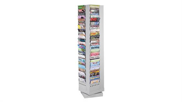 Magazine & Literature Storage Safco Office Furniture 92-Pocket Steel Rotary Magazine Rack