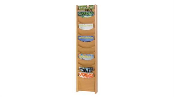 Magazine & Literature Storage Safco Office Furniture 12-Pocket Wood Magazine Rack