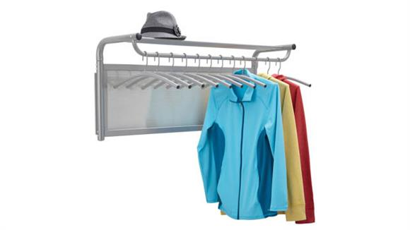Coat Racks Safco Office Furniture Coat Wall Rack with Hangers