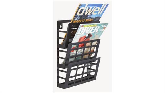 Magazine & Literature Storage Safco Office Furniture Grid Magazine Rack 3 Pocket