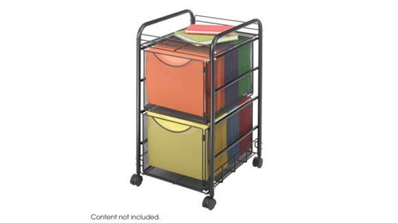 Mobile File Cabinets Safco Office Furniture Onyx™ Mesh File Cart with 2 File Drawers