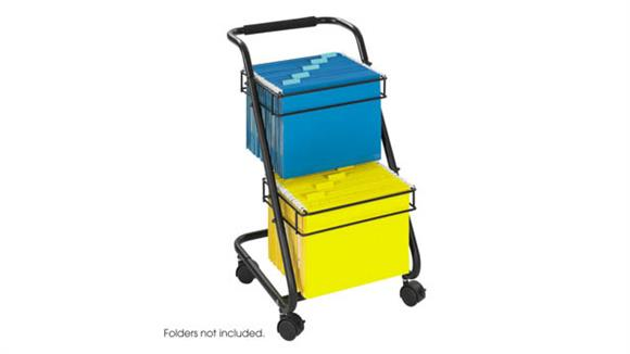 Mobile File Cabinets Safco Office Furniture Jazz™ Two-Tier File Cart