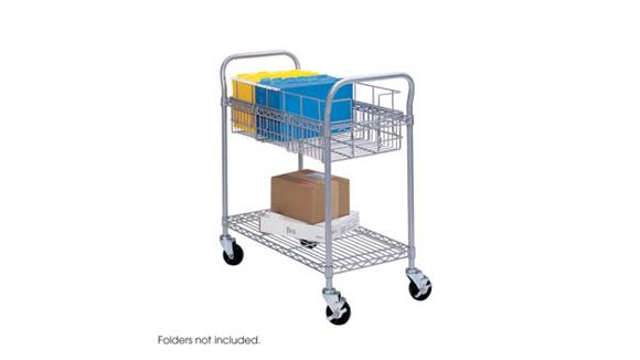 """Mail Carts Safco Office Furniture 24"""" Wire Mail Cart"""