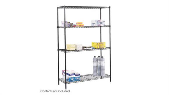 "Shelving Safco Office Furniture Commercial Wire Shelving, 48"" x 18"""