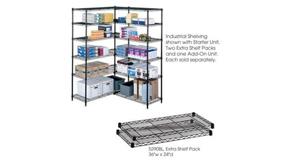 """Shelving Safco Office Furniture Industrial Extra Shelf Pack, 24"""" x 36"""" (Qty. 2)"""